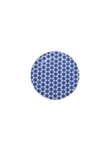 Porland Blue Desen4 Düz Tabak 15Cm Renkli